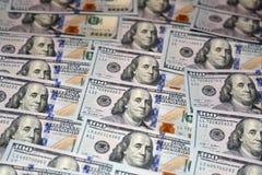 Cento banconote dell'americano del dollaro Fotografie Stock Libere da Diritti