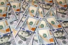 Cento banconote dell'americano del dollaro Fotografia Stock Libera da Diritti