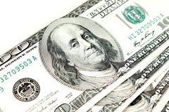 Cento banconote in dollari Fotografia Stock