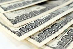Cento banconote in dollari Immagini Stock Libere da Diritti