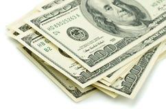 Cento banconote in dollari Immagine Stock