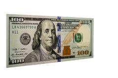 Cento banconote in dollari 001 Immagini Stock Libere da Diritti