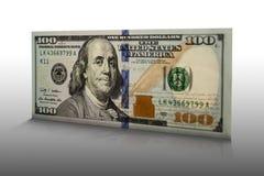 Cento banconote in dollari 002 Immagini Stock Libere da Diritti