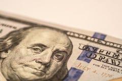 Cento banconote in dollari, macrofotografia Fotografia Stock Libera da Diritti