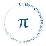 Cento cifre del numero pi che forma un cerchio royalty illustrazione gratis