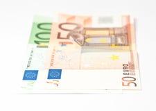 Cento cinquanta euro banconote Fotografia Stock