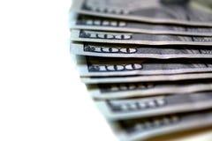 Cento contanti dei soldi delle banconote in dollari Fotografia Stock Libera da Diritti