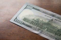 Cento dollari americani di note fotografie stock libere da diritti