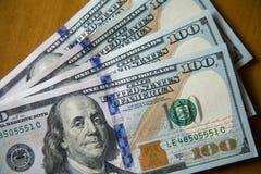 Cento dollari americani di note fotografia stock libera da diritti