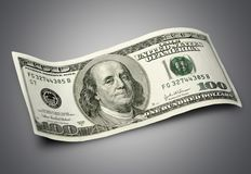 Cento dollari Bill Fotografia Stock
