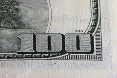 Cento dollari Bill Fotografie Stock Libere da Diritti
