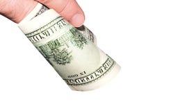Cento dollari di A Immagini Stock Libere da Diritti