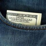 Cento dollari di banconote Immagini Stock