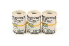 Cento dollari di banconote Immagine Stock