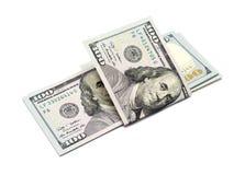 Cento dollari di banconote Fotografia Stock Libera da Diritti