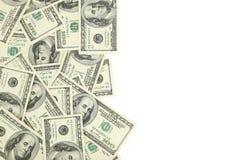 Cento dollari di fattura su fondo bianco Immagini Stock Libere da Diritti