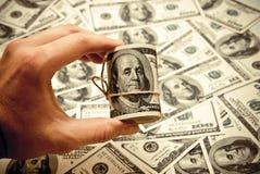Cento dollari di Stati Uniti Fotografie Stock Libere da Diritti
