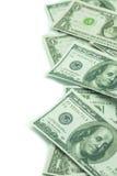 Cento dollari ed un dollaro di mucchio Fotografie Stock