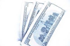 Cento dollari in neve Immagini Stock Libere da Diritti