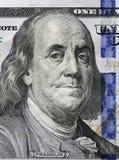 Cento dollari Ritratto di Benjamin Franklin Fotografia Stock Libera da Diritti