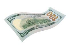Cento dollari su un fondo bianco Fotografie Stock Libere da Diritti