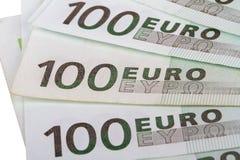 Cento euro Banknots Immagini Stock
