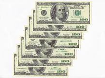 Cento fatture del dollaro. Fotografie Stock Libere da Diritti