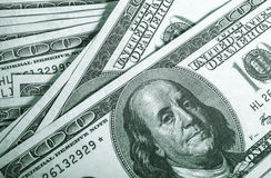 Cento fatture del dollaro Immagini Stock Libere da Diritti