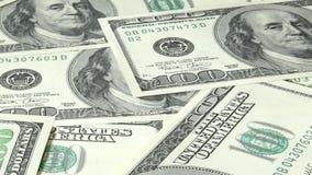 Cento fatture del dollaro banconote 100 dollari americani video d archivio