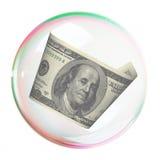 Cento fatture del dollaro nella bolla Immagine Stock Libera da Diritti
