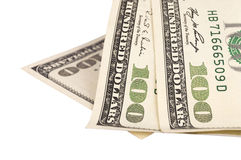 Cento fatture di dollaro americano Fotografia Stock Libera da Diritti