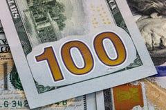Cento fini della nota del dollaro su U.S.A. Fotografia Stock Libera da Diritti