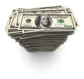 Cento mila dollari - pila delle fatture Immagine Stock Libera da Diritti