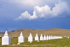 Cento otto stupas Immagine Stock Libera da Diritti
