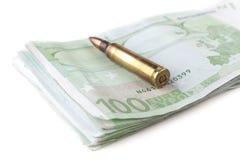 Cento pallottole dell'euro Immagini Stock Libere da Diritti