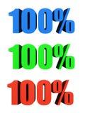 Cento per cento Immagine Stock