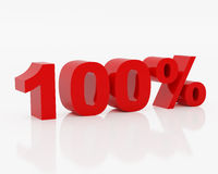 Cento per cento Immagini Stock