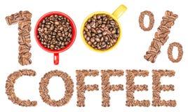 Cento per cento del caffè Fotografia Stock Libera da Diritti
