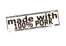 Cento per cento della carne di maiale Fotografia Stock