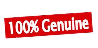 Cento per cento genuini Fotografie Stock