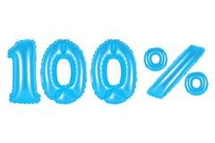 100 cento per cento, colore blu Fotografia Stock Libera da Diritti