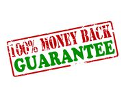 Cento per cento di garanzia soddisfatti o rimborsati Immagine Stock