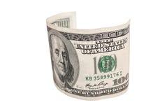 Cento primi piani del dollaro Fotografia Stock