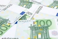 Cento priorità basse degli euro Fotografie Stock