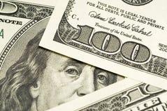 Cento priorità basse delle fatture del dollaro Fotografia Stock Libera da Diritti