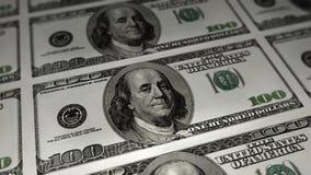 Cento strati del dollaro Immagini Stock Libere da Diritti