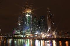 Centr internacional del negocio de la ciudad de los rascacielos Fotos de archivo libres de regalías