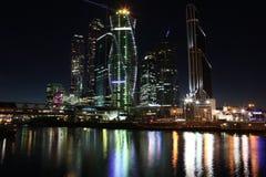 Centr internacional do negócio da cidade dos arranha-céus Fotos de Stock Royalty Free
