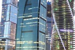 Centr internacional do negócio da cidade dos arranha-céus Fotografia de Stock Royalty Free