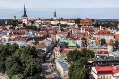 Centra av den Tallinn staden Royaltyfri Fotografi